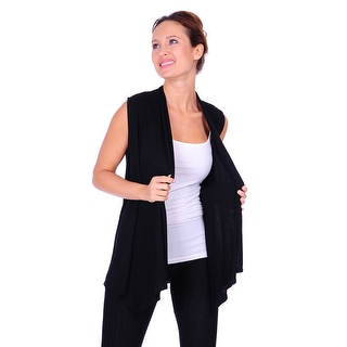 Simply Ravishing Women's Basic Sleeveless Open Cardigan (Size: Small-5X)