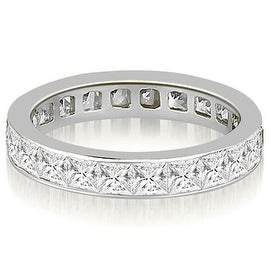 2.50 cttw. 14K White Gold Princess Channel Eternity Ring