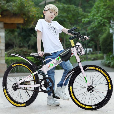 Youth Mountain 20in BMX Style Frame Kids Bike With Water Bottle Bag - 50 x 84