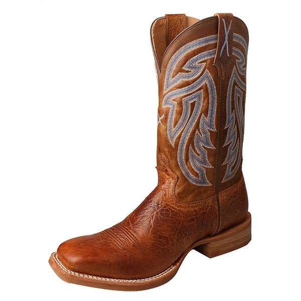 Twisted X Western Boots Mens Silver Buckle Rancher Peanut
