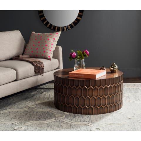 "SAFAVIEH Corey Antique Copper Coffee Table - 29"" x 29"" x 15"""