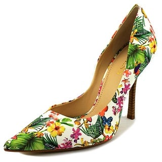 Guess Carrie2 Women Pointed Toe Canvas Heels