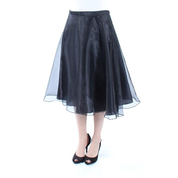 720141549caba Shop Womens Black Tea Length A-Line Skirt Size S - On Sale - Free ...