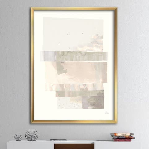 Designart 'Geometric Neutral Form I' Shabby Chic Framed Art Print