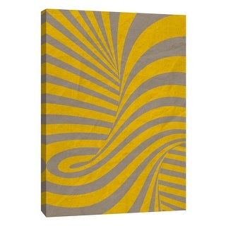 """PTM Images 9-109007  PTM Canvas Collection 10"""" x 8"""" - """"Yellow Swirls C"""" Giclee Abstract Art Print on Canvas"""