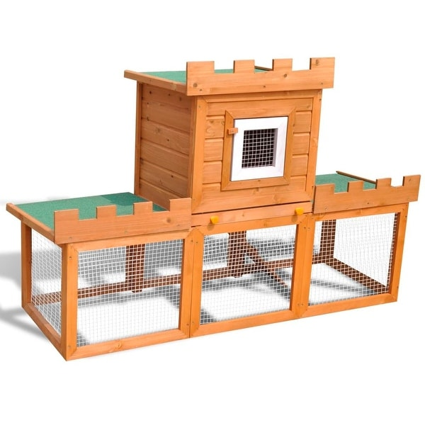 vidaXL Outdoor Large Rabbit Hutch House Pet Cage Single House. Opens flyout.