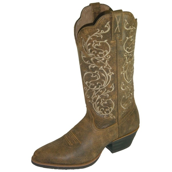 Twisted X Western Boots Womens Cowboy R Toe Bomber Brown