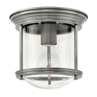"Hinkley Lighting 3300AN-CL Hadley Single Light 7-3/4"" Wide Flush Mount Ceiling Fixture with Clear Glass Shade"