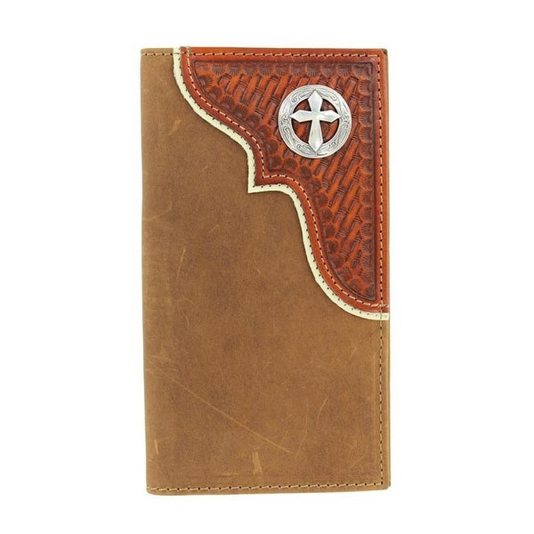 Nocona Western Wallet Mens Rodeo Tooled Cross Concho Saddle - One size