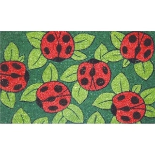 Home & More 12042 Coir and Vinyl Ladybugs Floor Mat
