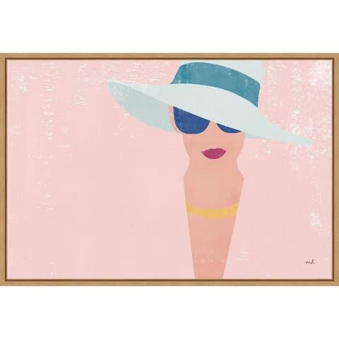 Fashion Forward (Woman) by Moira Hershey Framed Canvas Art