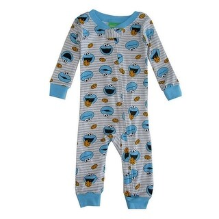 Sesame Street Baby Boys Grey Cookie Monster Sleeper