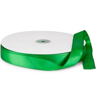 """Pack Of 1, Solid Emerald Double Faced Satin Ribbon 7/8"""" X 100 Yds 100% Polyester"""