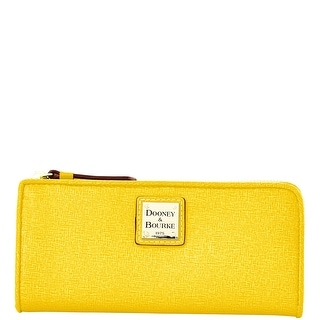Dooney & Bourke Saffiano Zip Clutch (Introduced by Dooney & Bourke at $128 in Oct 2014) - Yellow