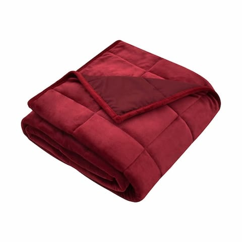 """MERRYLIFE Blanket 12 lbs 48"""" X 72"""" Twin Size Ceramic Beads Filling"""