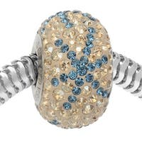 Swarovski Crystal, 82063 BeCharmed Pave Snowflake Bead 4.5mm Hole 14mm, 1 Piece, Light Sapphire