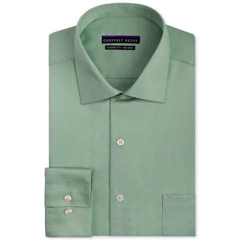 Geoffrey Beene Mens Non Iron Classic Button Up Dress Shirt