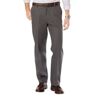 Dockers D3 Classic Fit Flat Front Chinos Pants Steel Grey 34 x 32