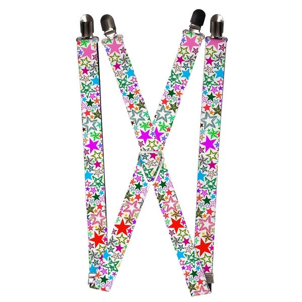Buckle Down Women's Elastic 1 Inch Wide Clip-End Stargazer Suspenders
