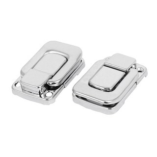 Suitcase Briefcase Wooden Case Metal Toggle Latches Hasp Lock 47mm Long 2pcs