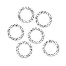 Nunn Design Silver Plated Open Jump Rings Twist 11.5mm 14 Gauge (10)