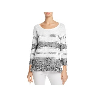 Soft Joie Womens Kenley Pullover Sweater Fringe Striped