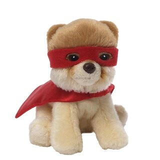 "5"" Itty Bitty Boo The World's Cutest Dog ""SuperBoo"" Children's Plush Stuffed Animal - Brown"