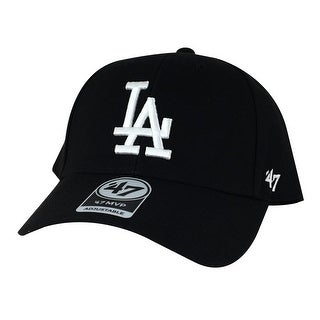 47' Brand MVP Velcro Adjustable Hat - LA Dodgers Black White ( Custom )