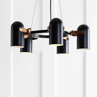 """Link to Eugenio 24.5"""" Adjustable Metal LED Pendant, Black/Brass Gold by JONATHAN  Y Similar Items in Pendant Lights"""