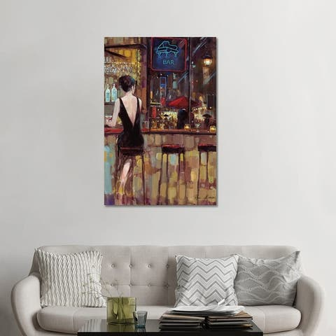 """iCanvas """"Piano Bar"""" by Ruane Manning Canvas Print"""