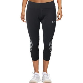 Nike Womens Athletic Leggings Tight-Fit Cropped