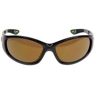 Gargoyles Shakedown Sunglasses Black Frame/Brown Polarized w/ Bronze Mirror Lens