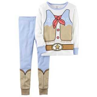 Carter's Baby Girls' 2-Piece Cowgirl Snug Fit Cotton PJs, 18 Months - multi