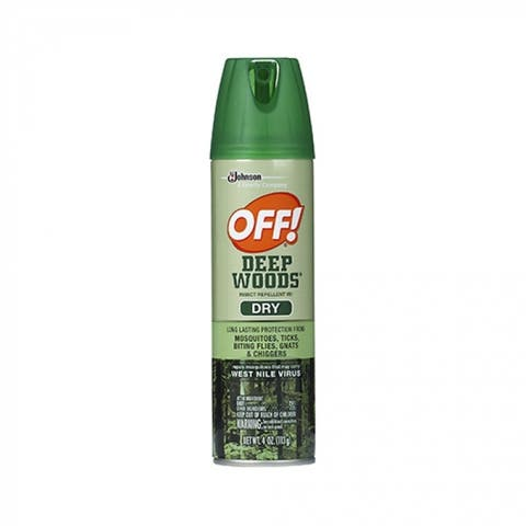 Off 71765 Deep Woods Dry Aerosol Insect Repellent, 4 Oz
