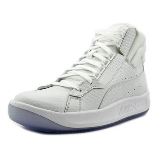 Puma Challenge Embossed   Round Toe Leather  Sneakers