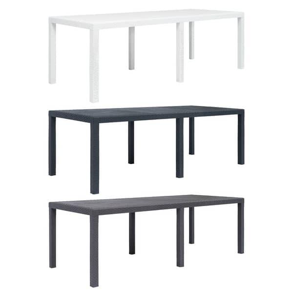 Phenomenal Shop Vidaxl Garden Table 31 1 Plastic Rattan Look Camping Dailytribune Chair Design For Home Dailytribuneorg