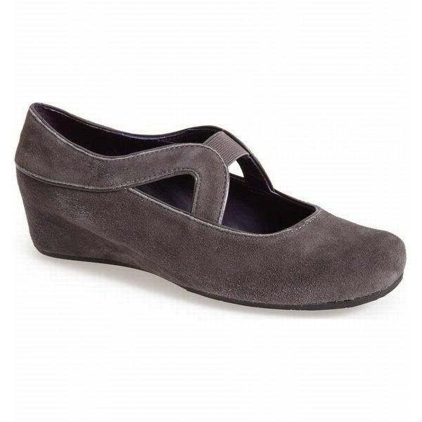 Vaneli NEW Gray Women's Shoes Size 11.5M Marga Wedge Mary Jane
