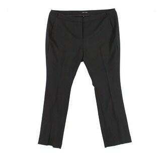 Amanda & Chelsea Black Womens Size 18W Plus Stretch Dress Pants