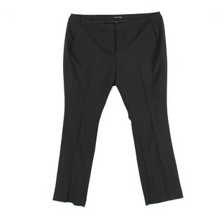 Amanda + Chelsea Black Womens 20W Plus Stretch Narrow Dress Pants