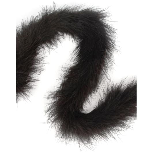"Marabou Feather Boa Solid Color Heavyweight 72""-Black - Black"