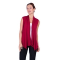 Simply Ravishing Women's Basic Sleeveless Open Cardigan (Size: Small-5X) - Thumbnail 7