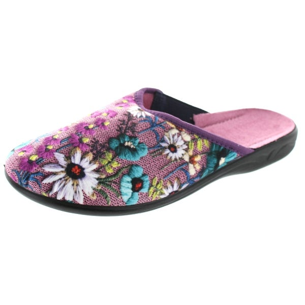 Sc Home Collection Womens Closed  Toe Floral Print Slippers