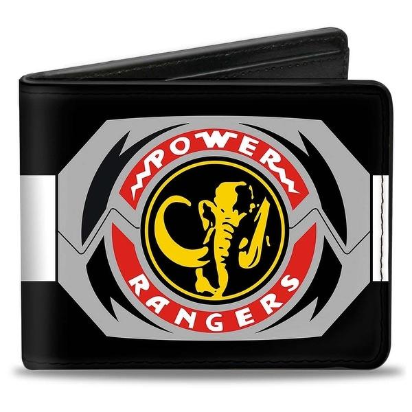 Power Rangers Black Ranger Mastodon Morpher Bi Fold Wallet - One Size Fits most