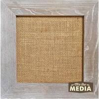 "10""X10"" Weathered - Jillibean Soup Mix The Media Wood Framed Burlap"