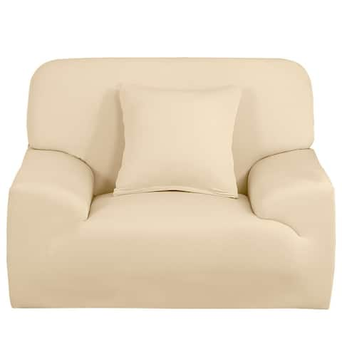 Stretch Sofa Chair Cover Loveseat Couch Sofa Slipcover Solid Color
