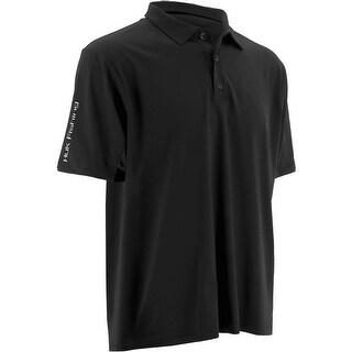 Huk Men's Icon Black Small Polo Short Sleeve Shirt