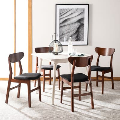 "SAFAVIEH Lucca Retro Dining Chair (Set of 2) - 17.3"" x 20.8"" x 33.1"""