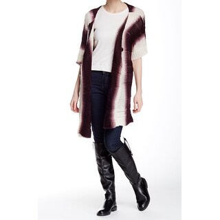 Natasha NEW Purple Ivory One Size Cardigan Colorblock Sweater