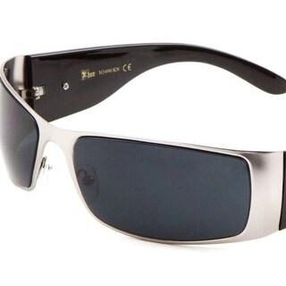 KHAN Metal Wrap Around Sunglasses Dark Lens 67mm