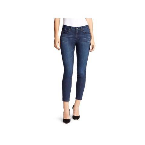 William Rast Womens Skinny Crop Jeans Denim Dark Wash - 30